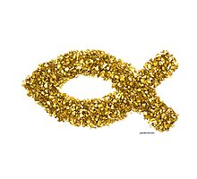 Custom Gold Ichthys Photographic Print