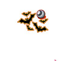 Halloween bats tee   Photographic Print