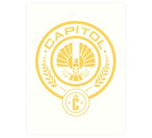 The Hunger Games Capitol Seal Art Print