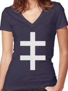 Celebritarian Corporation Women's Fitted V-Neck T-Shirt
