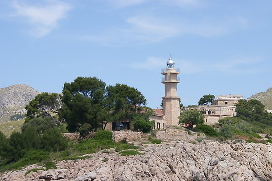 Lighthouse in Majorca by Sam Mobbs