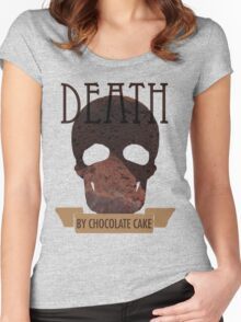 Death by Chocolate Cake Women's Fitted Scoop T-Shirt