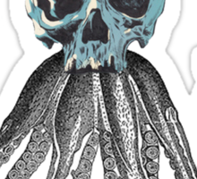 squid skull Sticker