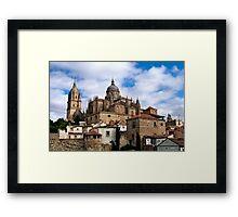 Old town Salamanca Framed Print