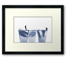 Diving in water Framed Print