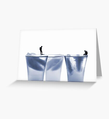 Diving in water Greeting Card