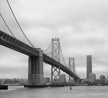 San Francisco and the Bay Bridge by Simon  Goyne