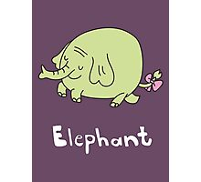 E for Elephant Photographic Print