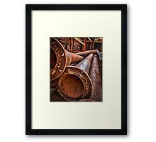 In the alley, with a pipe 2 Framed Print
