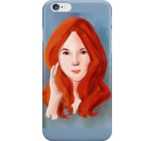 the fierce red head iPhone Case/Skin