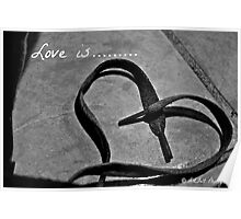 LOVE on a string Poster