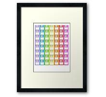 Floppy Disk Rainbow  Framed Print