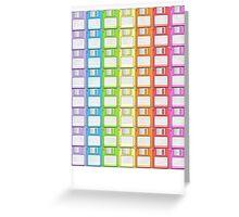 Floppy Disk Rainbow  Greeting Card