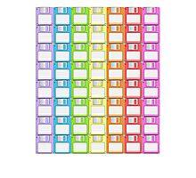 Floppy Disk Rainbow  Photographic Print