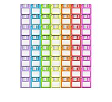 Floppy Disk Rainbow  Photographic Print