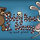 Teddy Bear And Bunny - Book Cover by Brett Gilbert