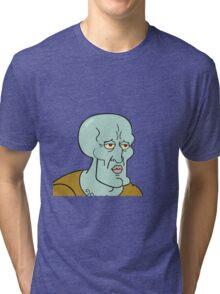 Handsome squidward Tri-blend T-Shirt