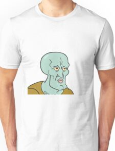 Handsome squidward Unisex T-Shirt