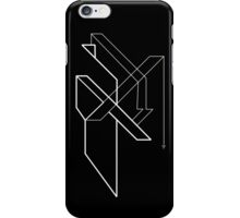 Architectural Voltage White on Black iPhone Case/Skin