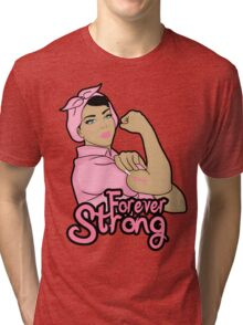 cancer awareness  forever strong Tri-blend T-Shirt