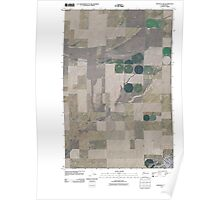 USGS Topo Map Washington State WA Ritzville NW 20110401 TM Poster