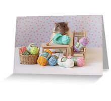 Snoozy wanted to knit ! Greeting Card
