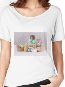 Snoozy wanted to knit ! Women's Relaxed Fit T-Shirt