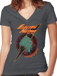 Electric Method Women's Fitted V-Neck T-Shirt