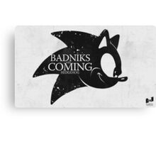 Badniks are Coming - Hedgehog Canvas Print