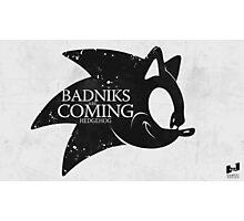 Badniks are Coming - Hedgehog Photographic Print