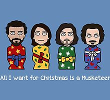 The Musketeers Christmas card 2 by redscharlach