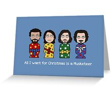 The Musketeers Christmas card 2 Greeting Card