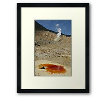The Papandayan volcanic crater. West Java. Indonesia. Framed Print
