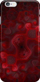 Red Whorls iPhone by Jess Meacham