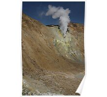 Crater wall vent. Papandayan volcano. Indonesia. Poster