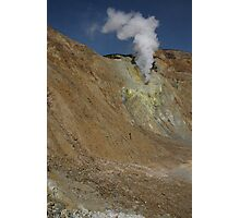 Crater wall vent. Papandayan volcano. Indonesia. Photographic Print