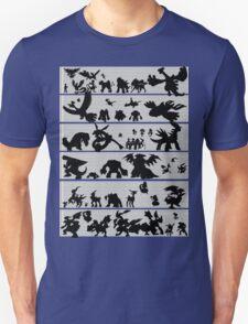 Pokemon Size Chart T-Shirt