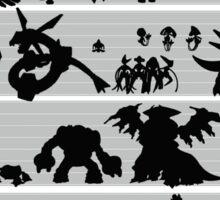 Pokemon Size Chart Sticker