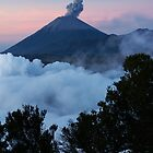 Mt Semeru at dawn. Java. Indonesia. by Ian Hallmond