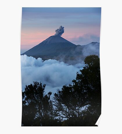 Mt Semeru at dawn. Java. Indonesia. Poster