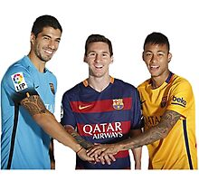 Messi, Suárez and Neymar Photographic Print