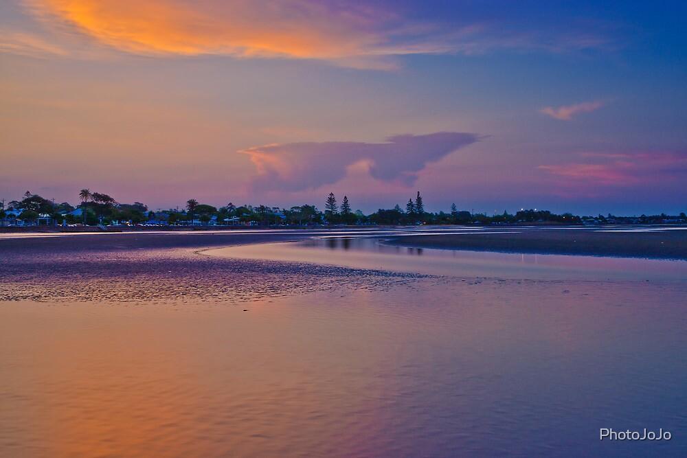 Dusk over Shornecliffe Foreshore Brisbane Queensland by PhotoJoJo