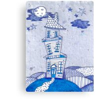 Crooked Blue Canvas Print