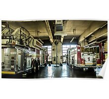 Engine 1 and Truck 1 Poster