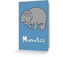 M for Manatee Greeting Card