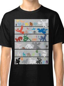 Pokemon Size Chart Color Classic T-Shirt