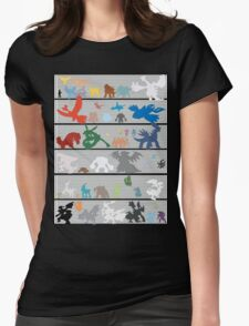 Pokemon Size Chart Color Womens Fitted T-Shirt