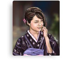Beautiful Japanese girl Canvas Print