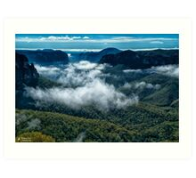 Grose Valley, Blue Mountains, Australia Art Print