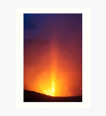 Yasur eruption. Island of Tanna. Vanuatu. Art Print
